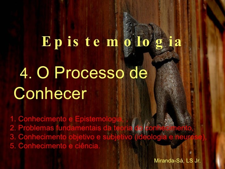 Curso de Epistemologia 4/6