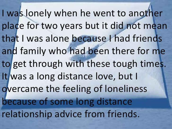 feeling alone in a long distance relationship
