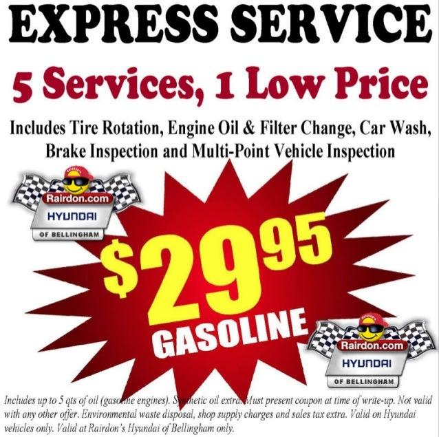 Rairdon Hyundai of Bellingham Express Service Special Seattle WA