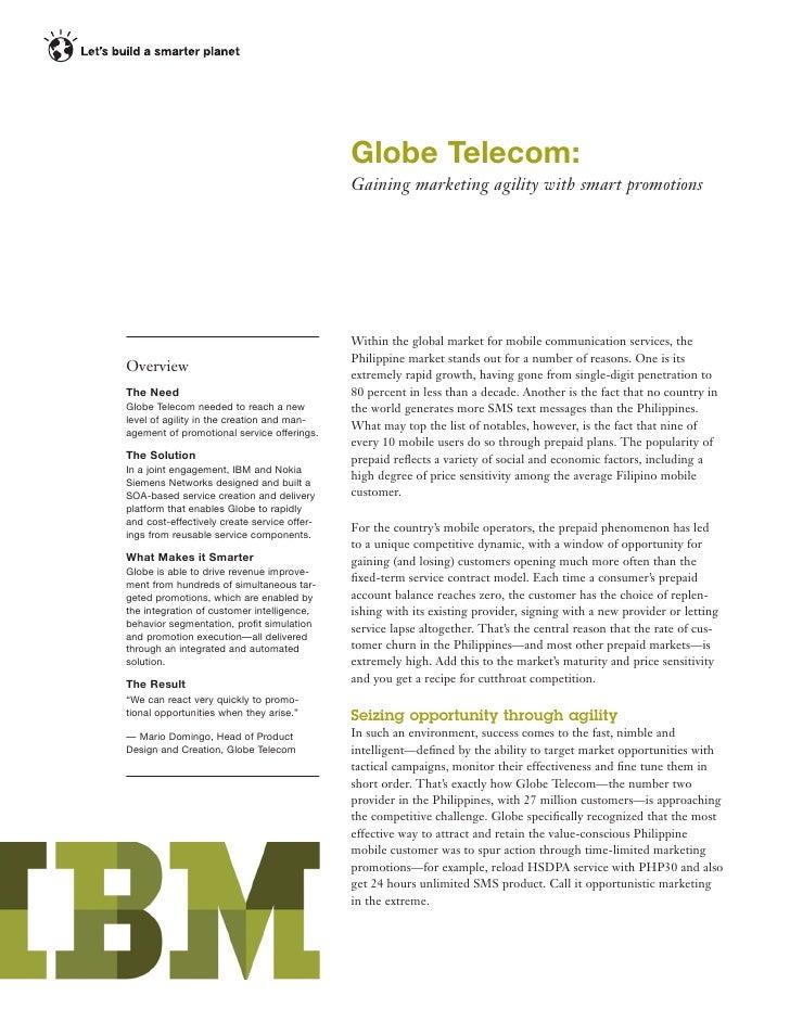 Globe Telecom:                                             Gaining marketing agility with smart promotions                ...
