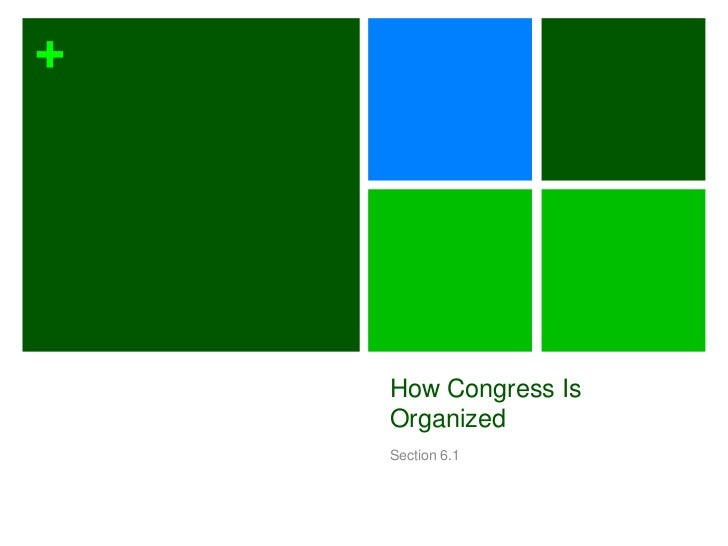 +    How Congress Is    Organized    Section 6.1