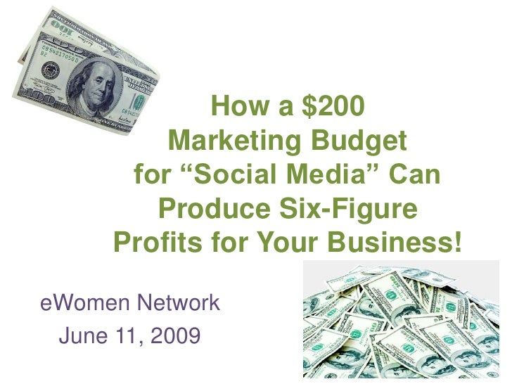 "How a $200         Marketing Budget      for ""Social Media"" Can        Produce Six-Figure     Profits for Your Business!eW..."