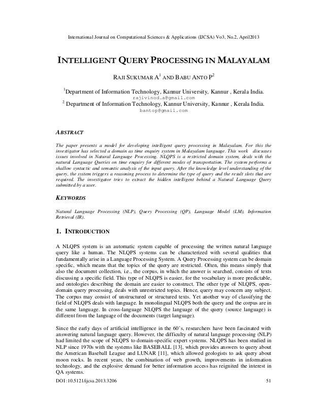 International Journal on Computational Sciences & Applications (IJCSA) Vo3, No.2, April2013DOI :10.5121/ijcsa.2013.3206 51...