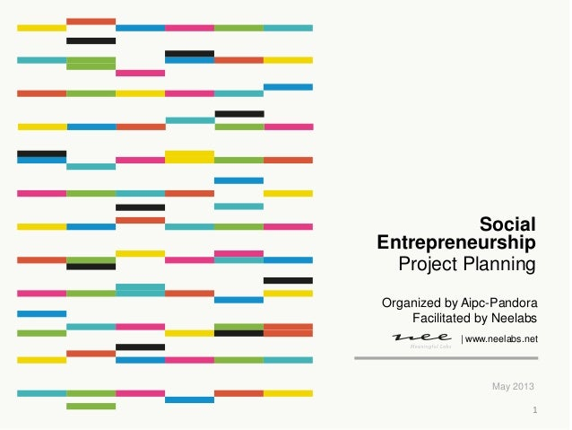 Project PlanningMay 2013SocialEntrepreneurship| www.neelabs.netOrganized by Aipc-PandoraFacilitated by Neelabs1