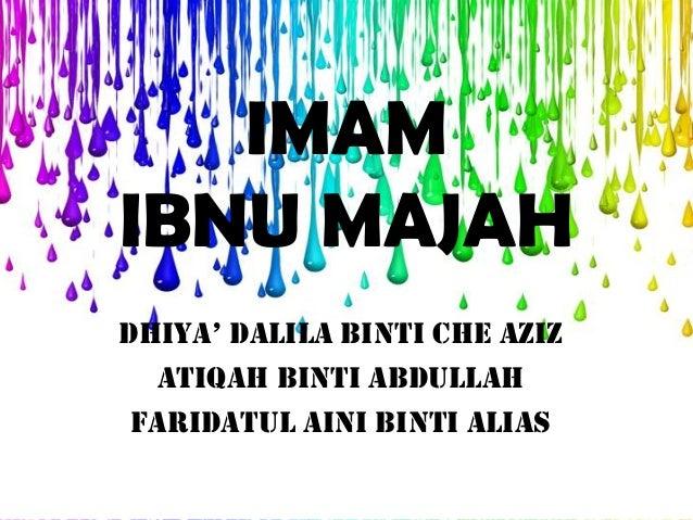 6.9.2012   imam ibnu majah