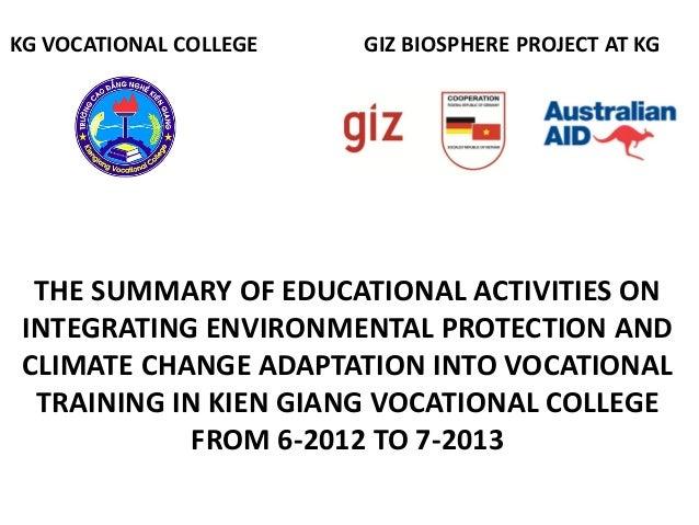 6. Integrating EE in vocational training in Kien Giang