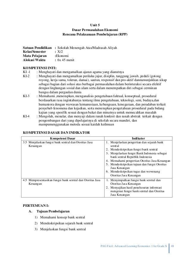 Rpp Ekonomi Semester 2 Kelas X 2013