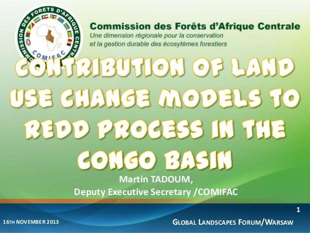 Martin TADOUM, Deputy Executive Secretary /COMIFAC 1 16TH NOVEMBER 2013  GLOBAL LANDSCAPES FORUM/WARSAW
