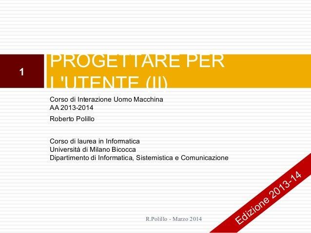 6. Progettare per l'utente (ii)
