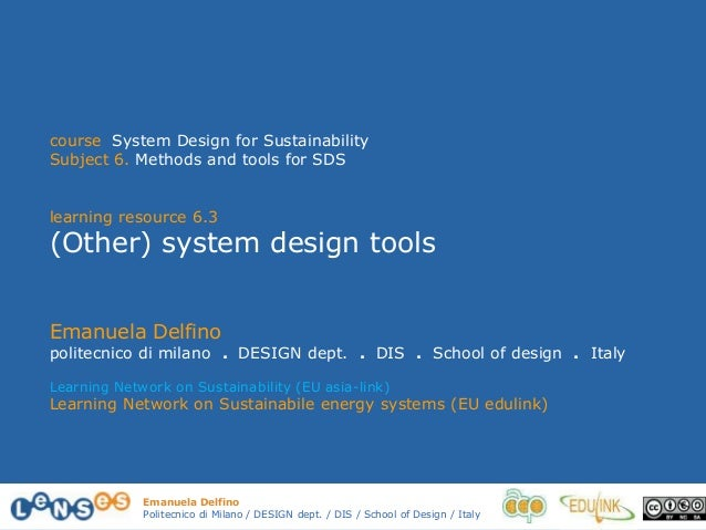 6.3 other system design tools