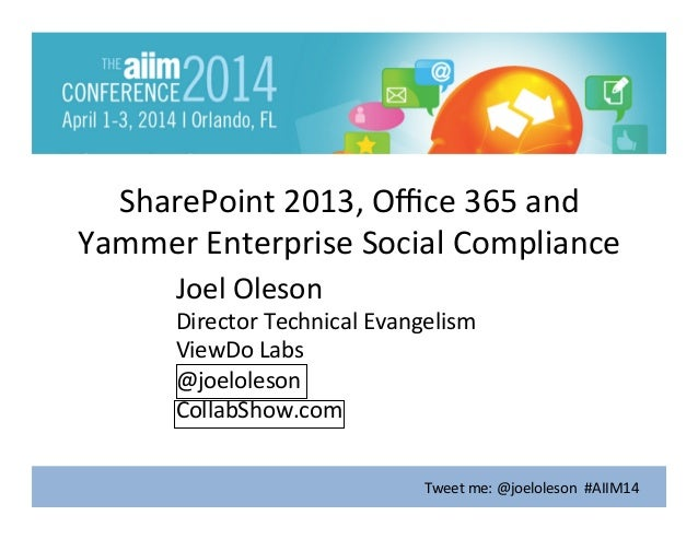 Enterprise Compliance in SharePoint and Office 365