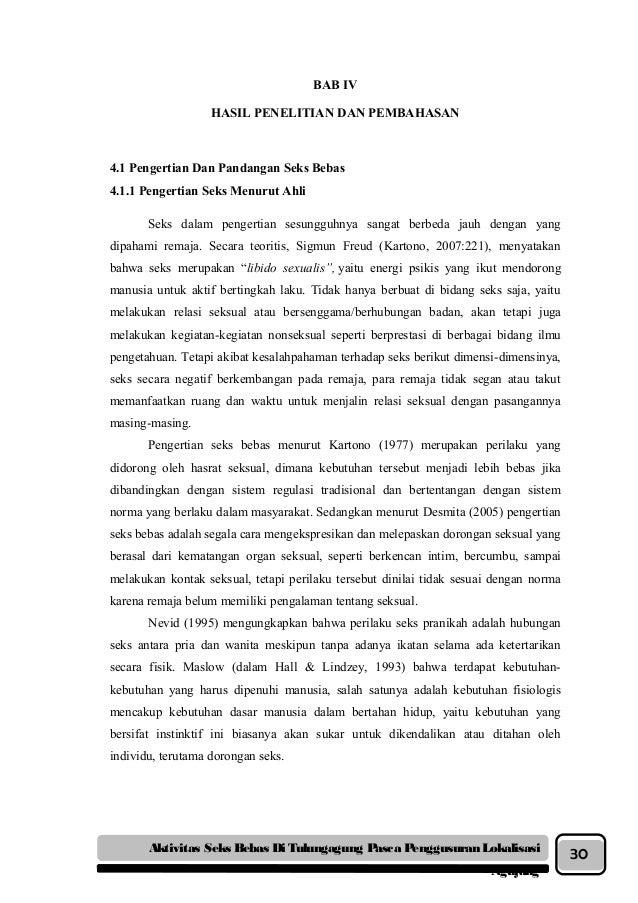 Karya Tulis Ilmiah Seks Bebas dan Penutupan Lokalisasi Ngujang