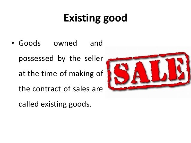 A buyer and a seller contract for the sale of certain goods, currently in the sellers possession.?