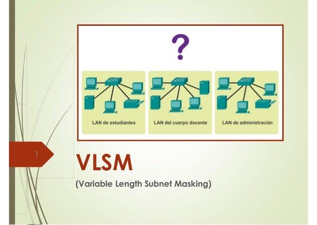 VLSM  (Variable Length Subnet Masking)  1