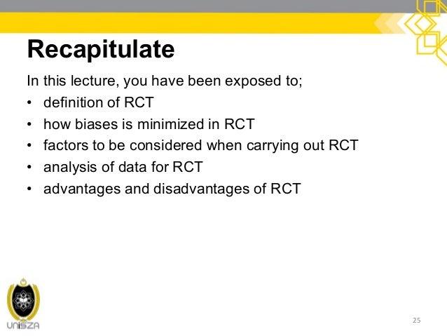 Randomised control trial advantages