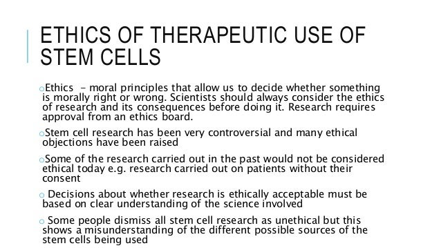Body Points to Support the Argument of Stem Cell Research Ethics?