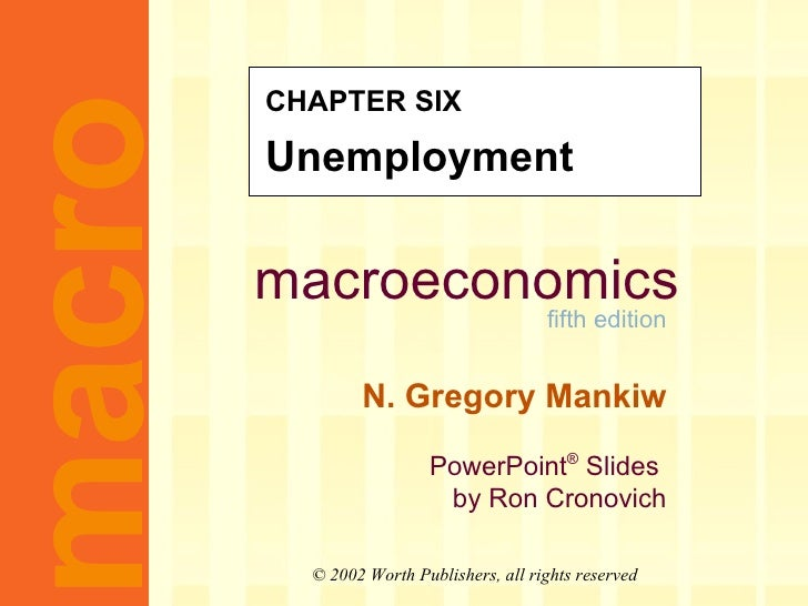 CHAPTER SIX Unemployment