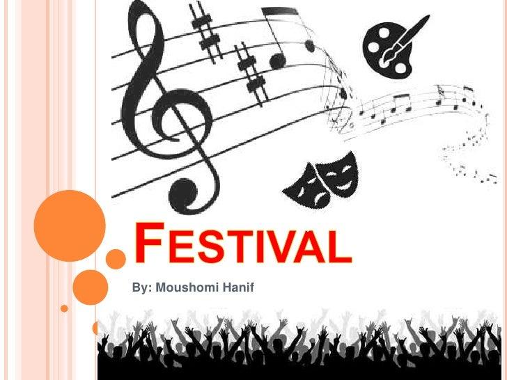 6.1 Powerpoint presentation on festivals