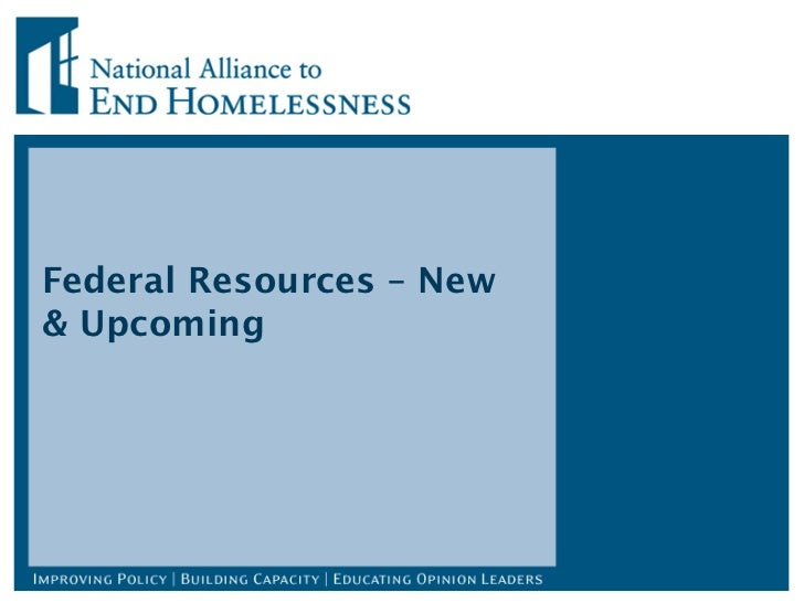 Federal Resources – New & Upcoming