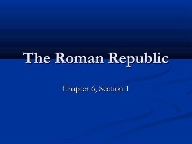 6 1 the roman republic