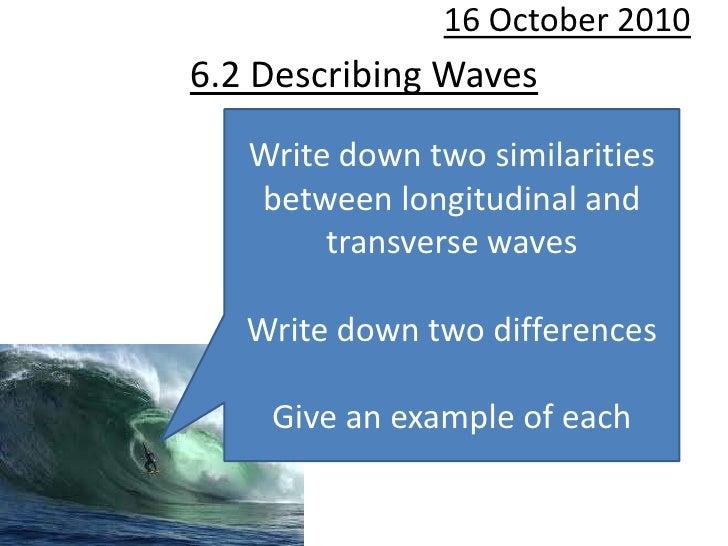 6.2 Describing waves