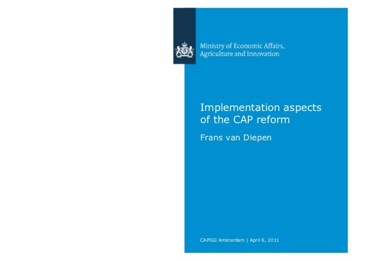 Implementation aspects of the CAP reform
