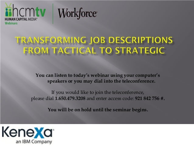 Transforming Job Descriptions From Tactical to Strategic