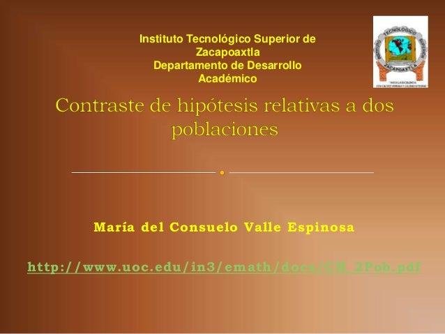 Instituto Tecnológico Superior de                        Zacapoaxtla               Departamento de Desarrollo             ...