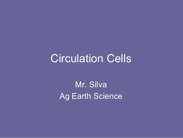Circulation Cells     Mr. Silva Ag Earth Science