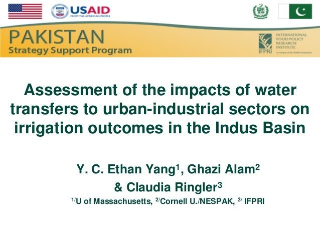 Assessment of the impacts of watertransfers to urban-industrial sectors on irrigation outcomes in the Indus Basin         ...