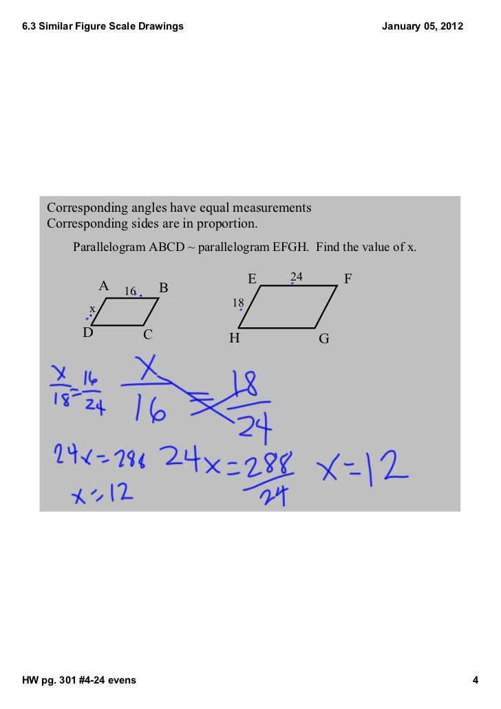 Corresponding Angles And Sides 2012 Corresponding Angles