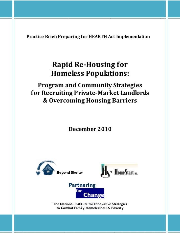 6.3 Prioritizing Permanent Housing: Advanced Re-Housing Strategies