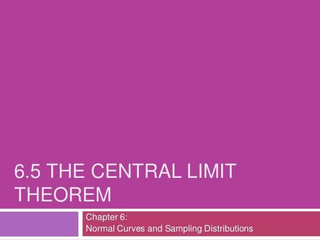 6.5 central limit