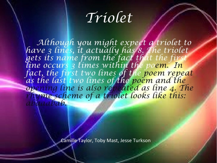 How to write a triolet