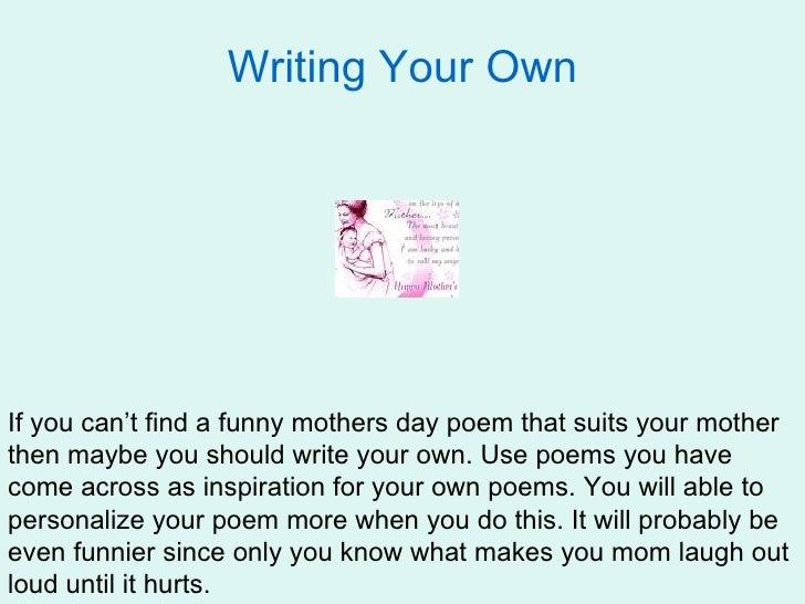 How do you write a funny poem?