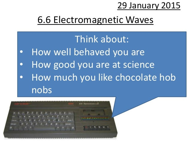 6.6 Electromagnetic Waves 29 January 2015 Think about: • How well behaved you are • How good you are at science • How much...