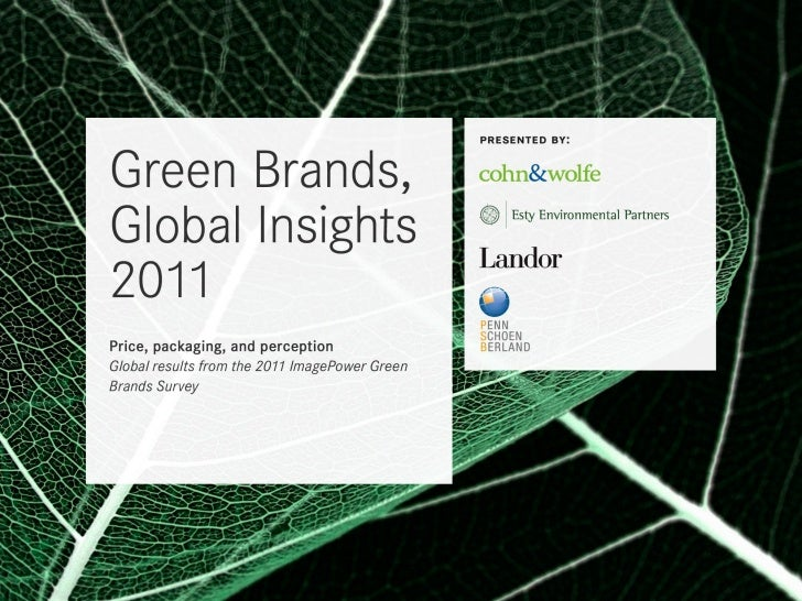 BACKGROUNDFor the past seven years, the ImagePower®Green Brands Survey has analyzedconsumer perceptions of green products ...