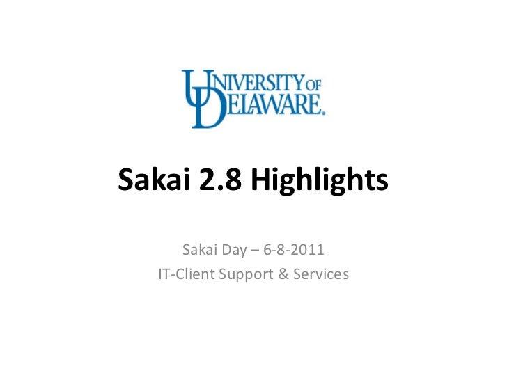 6-8-2011 Sakai Day at UD