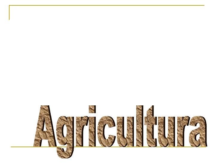 6  agricultura
