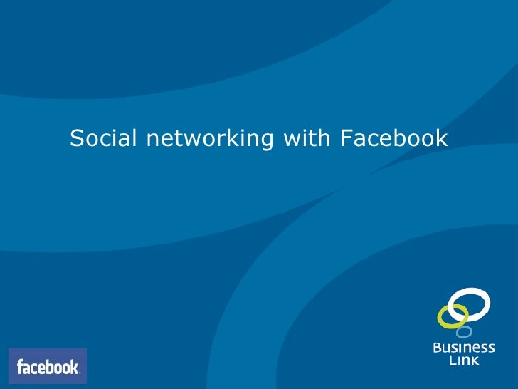 Social networking with Facebook