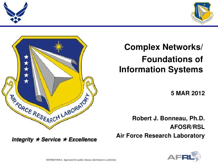 Bonneau - Complex Networks/Foundations of Information Systems - Spring Review 2012
