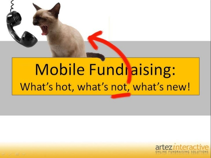 Mobile Fundraising:What's hot, what's not, what's new!