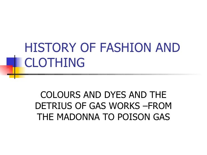Colours And Dyes