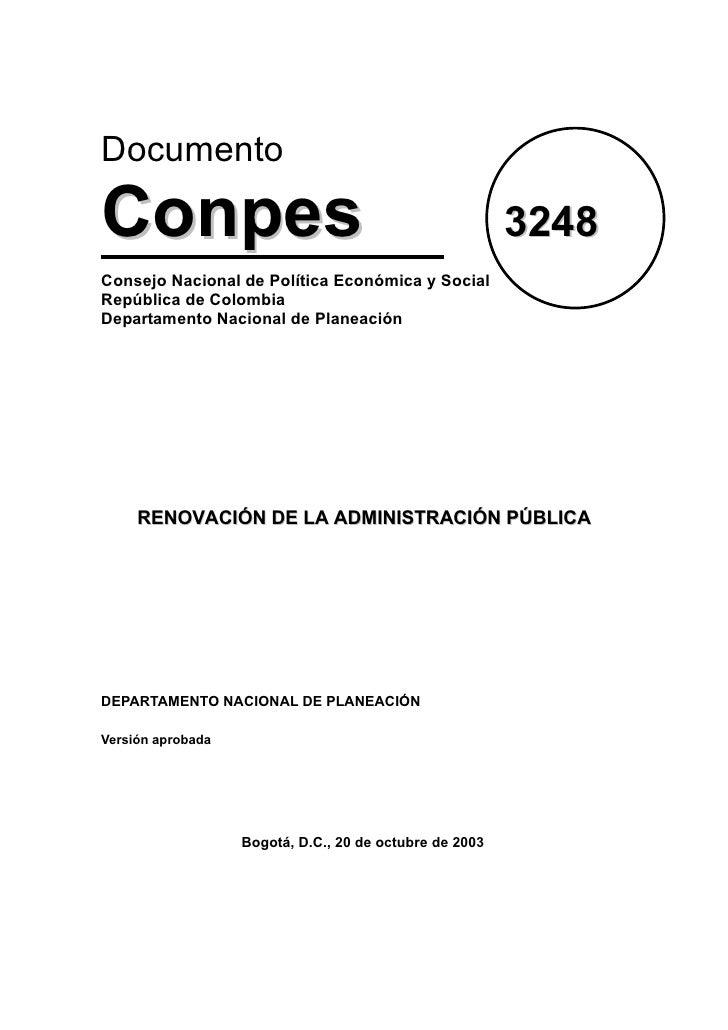 6. conpes 3248 renovación admón pública