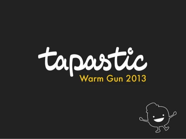 Daron Akira Hall, Tapastic –Startup Pitch, WarmGun 2013