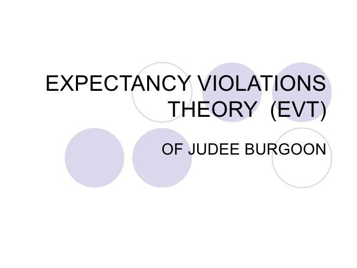 EXPECTANCY VIOLATIONS THEORY  (EVT) OF JUDEE BURGOON