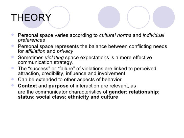 expectancy violations theory By oscar mejia expectancy violation theory as explained by burgoon and jones (1976) is.