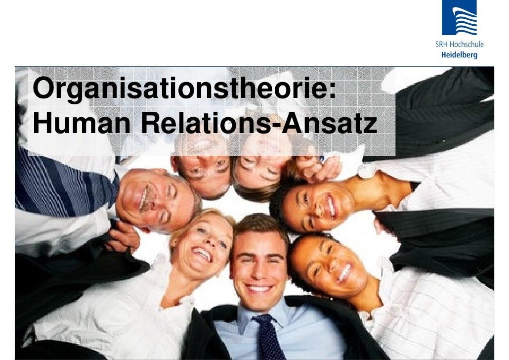 Organisationstheorie: Human Relations-Ansatz