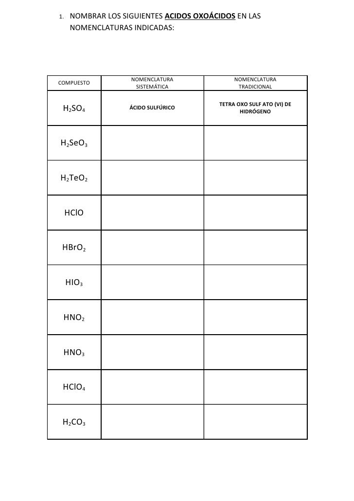 6. formulación acidos oxoacidos