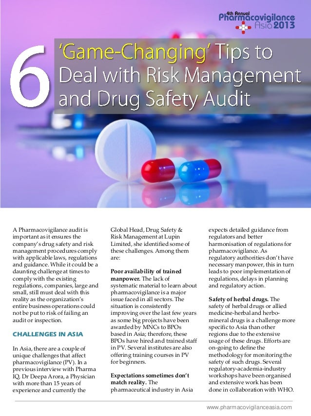 6 Game-Changing Tips to Deal with Risk Management and Drug Safety Audit
